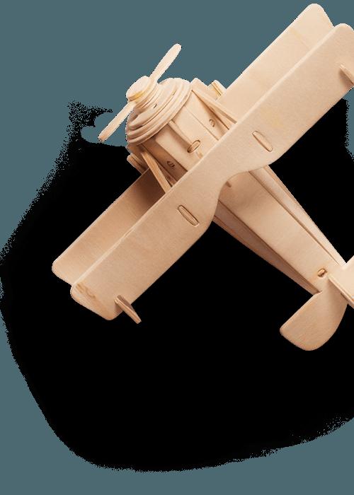 avion enfant en bois
